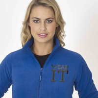 H163 Jerzees Colours Ladies Full Zip Outdoor Fleece