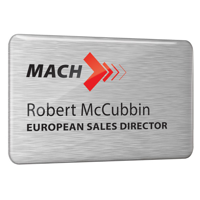 F076 Dome Finished Printed Metal Name Badge