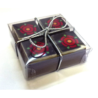 H121 Box of 6 Printed Chocolate Pralines