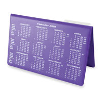 H018 Vinyl Desk Easel Calendar - 1 Colour