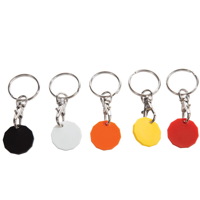 H078 Plastic Trolley Coin Key Ring