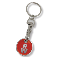 H078 Stamped Trolley Coin Key Ring