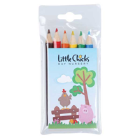 H034 Pack of 6 Half Length Colouring Pencils