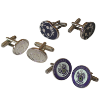 H147 Hard Enamel Cufflinks