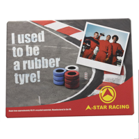 G016 Tyre Brite-Mat Rectangular Mouse Mat - Full Colour