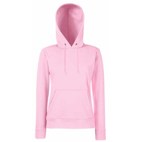 H161 Fruit Of The Loom Lady Fit Hooded Sweat
