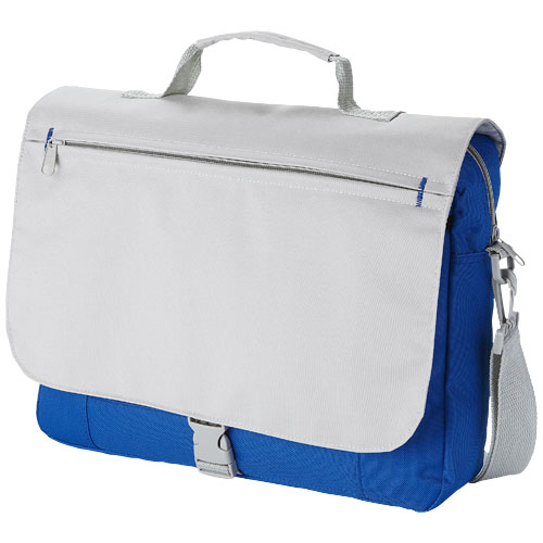 Pittsburgh conference bag in grey-and-royal-blue