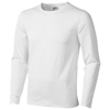 Curve long sleeve T-shirt in white-solid
