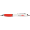 Metal Curvy Ballpen in white-and-red