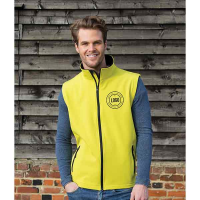 H164 Result Printable SoftShell Gilet