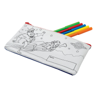 H034 Pencil Case with 5 Coloured Pens