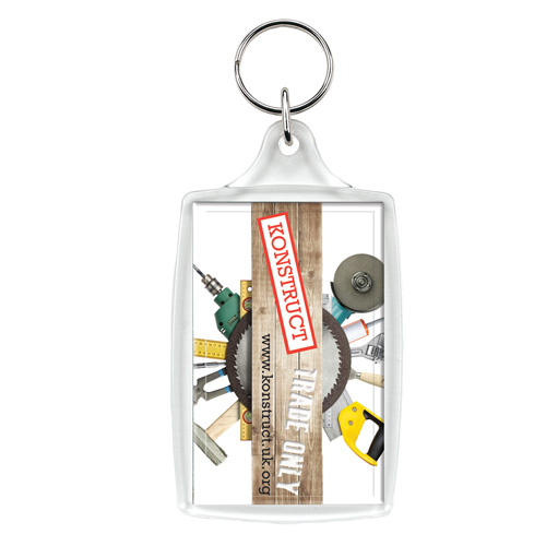 L4/L6 Large Keyring in clear